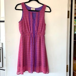 Everly pink and purple dress